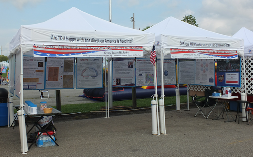 Greene County TEA Party booth