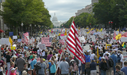 TEA Party movement takes shape in Washington DC, Sept. 12, 2009