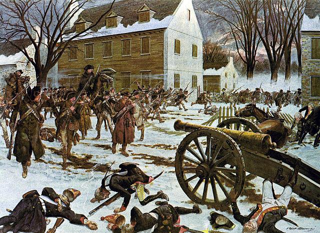 American victory at Trenton, Dec. 26, 1776