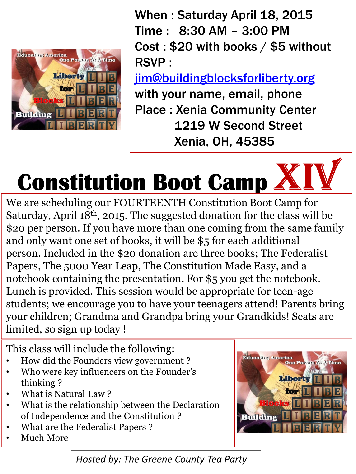 Constitution Boot Camp Flyer XIV 1219 W 2nd St-host GCTP
