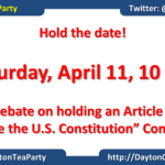DTP Article V debate hold the date
